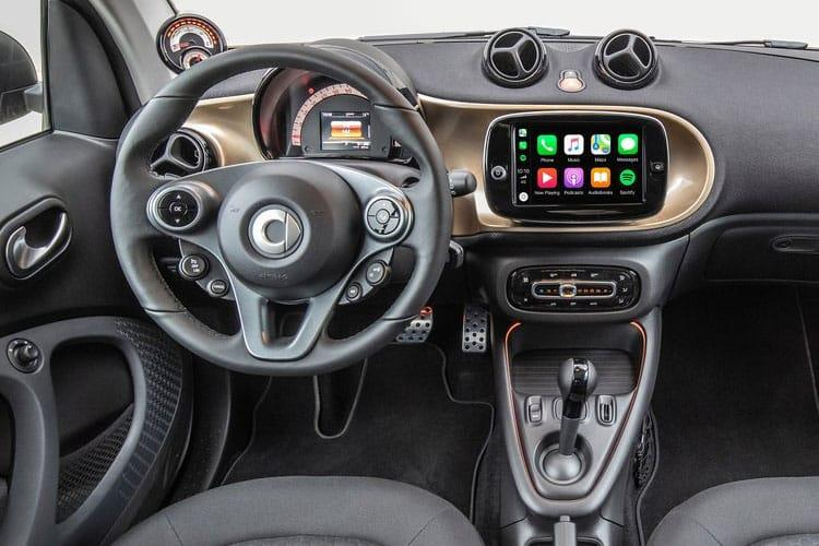 Smart ForTwo EQ ForTwo Coupe 2Dr Elec Drv 17.6kWh 60KW 82PS Exclusive 2Dr Auto [22kW Charger] inside view